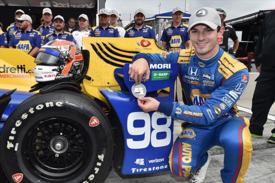 Alexander Rossi started from pole at The Glen