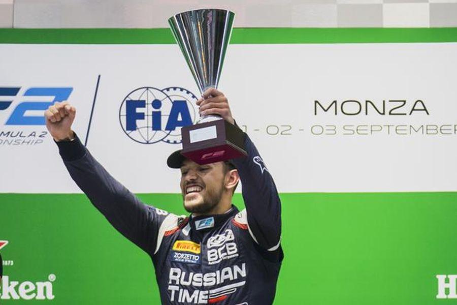 Luca Ghiotto, Formula 2, Monza