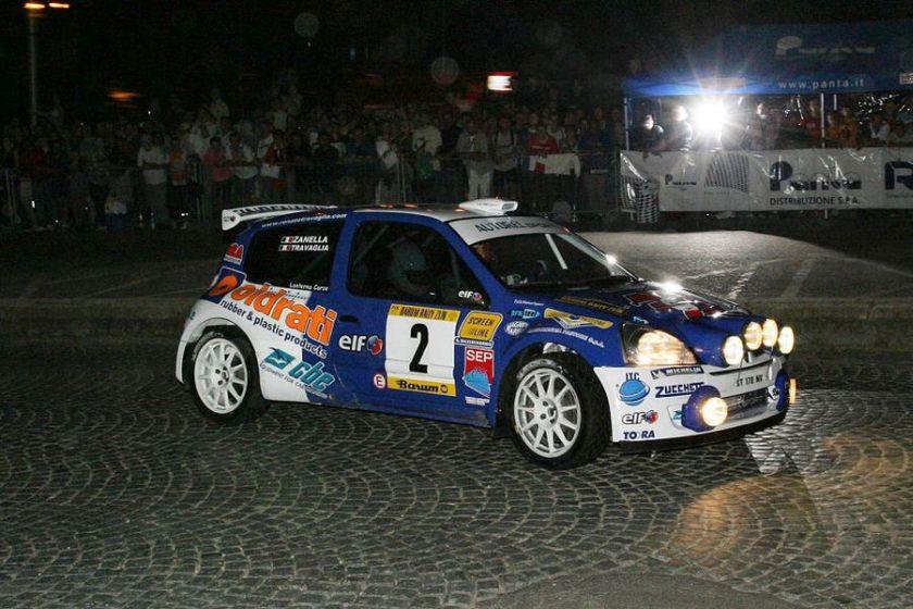 Travaglia was the 2005 European Rally champion in a Renault Clio S1600