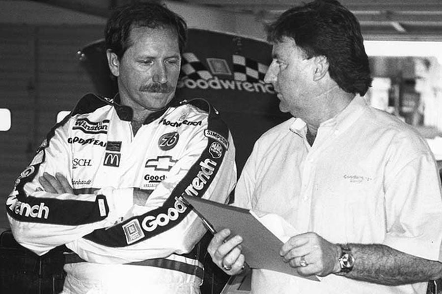 Dale Earnhardt and Richard Childress