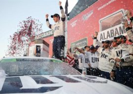 Brad Keselowski wins the Alabama 500 at Talladega Superspeedway