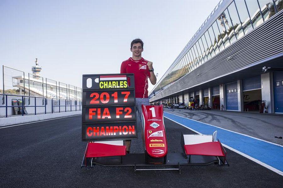 Charles Leclerc - the 2017 Formula 2 champion