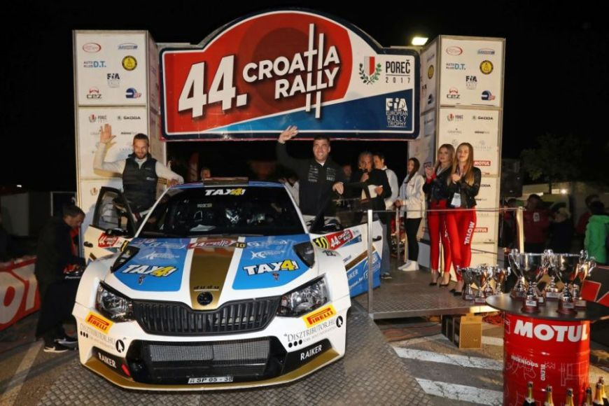 David Botka and Mark Mesterhazi, the winners of the 2017 Croatia Rally