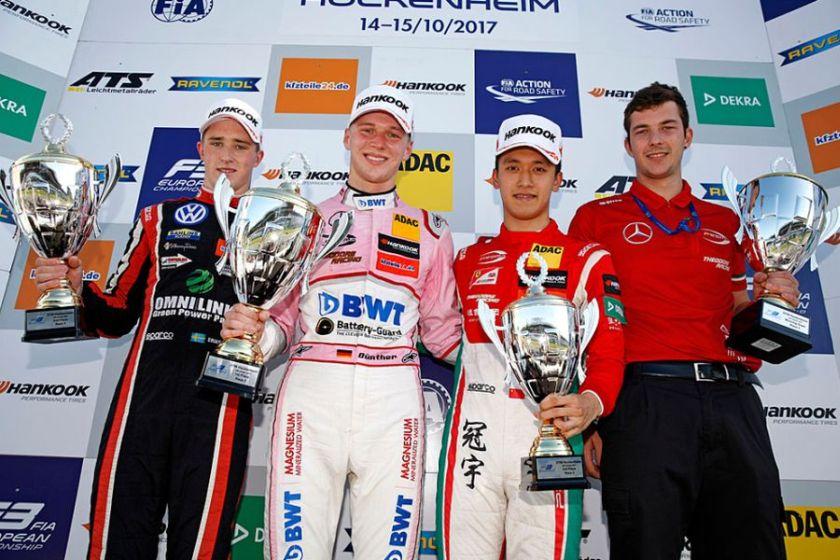 Formula 3 Europe, Hockenheim, race 3 podium