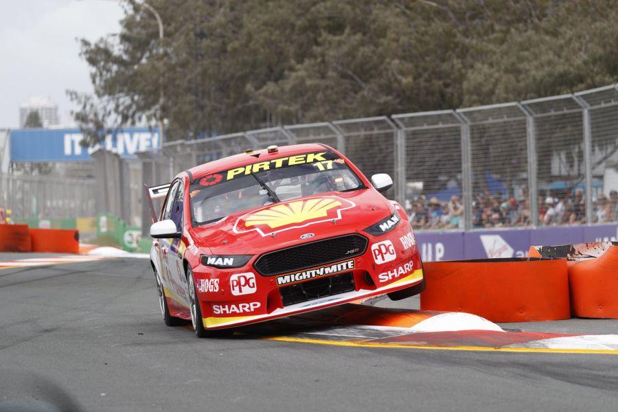 Gold Coast 600 race 2 winners Scott McLaughlin and Alexandre Premat