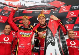 Steve Owen and Chaz Mostert, race 1 winners at 2017 Gold Coast 600