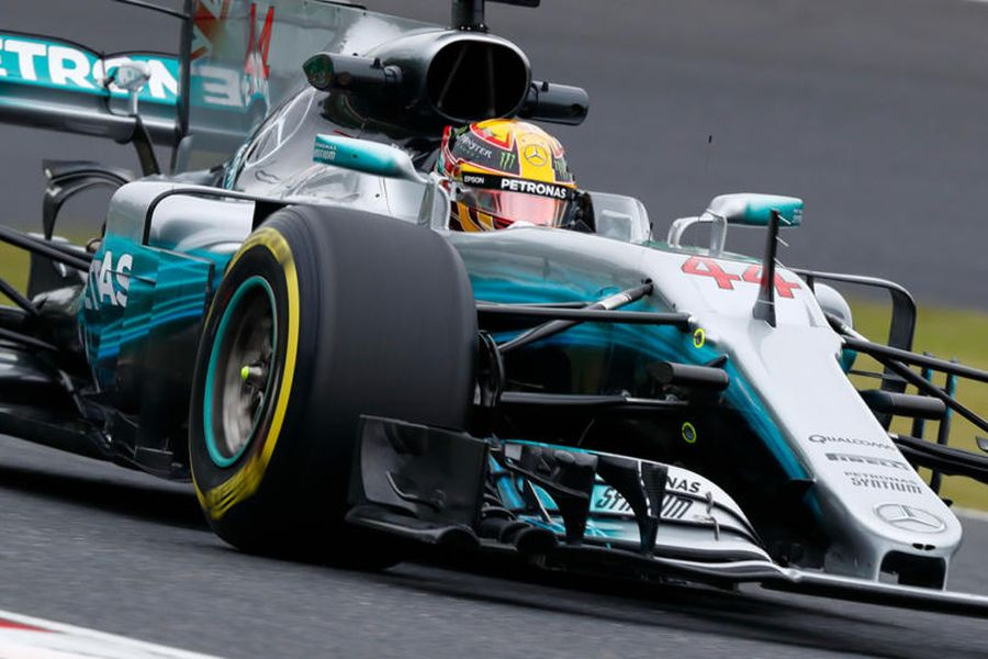 Lewis Hamilton at Japanese Grand Prix at Suzuka