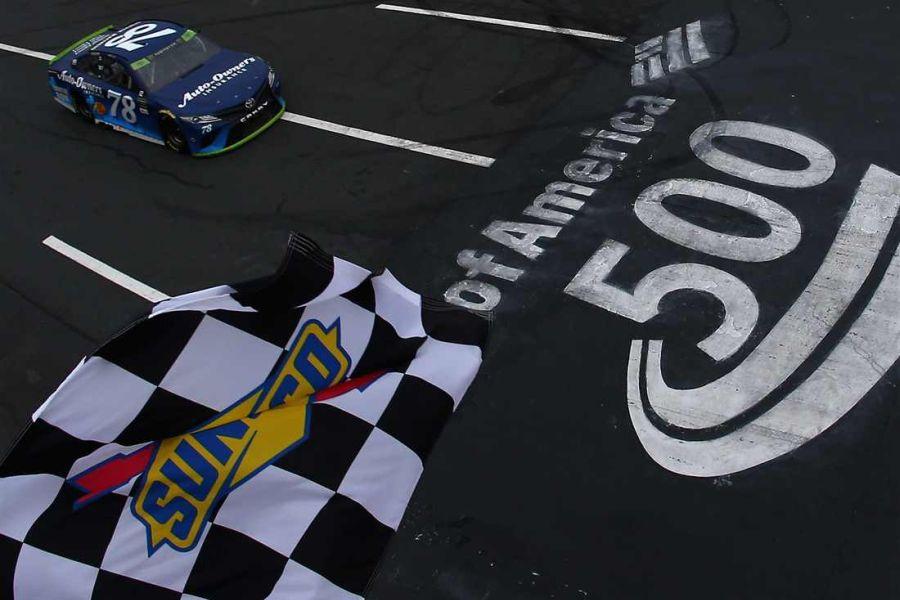 Martin Truex Jr wins the Bank of America 500 at Charlotte Motor Speedway