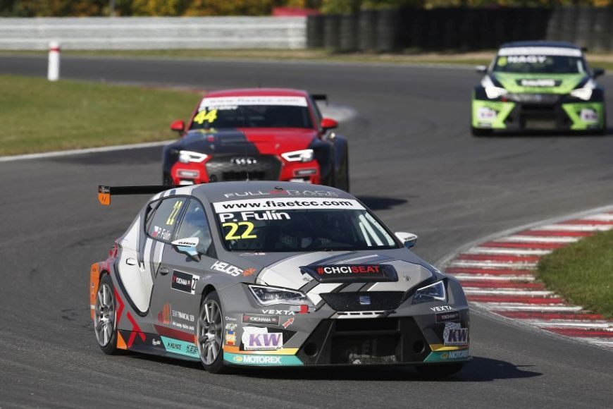 Petr Fulin was driving the #22 Seat Leon TCR for Krenek Motorsport