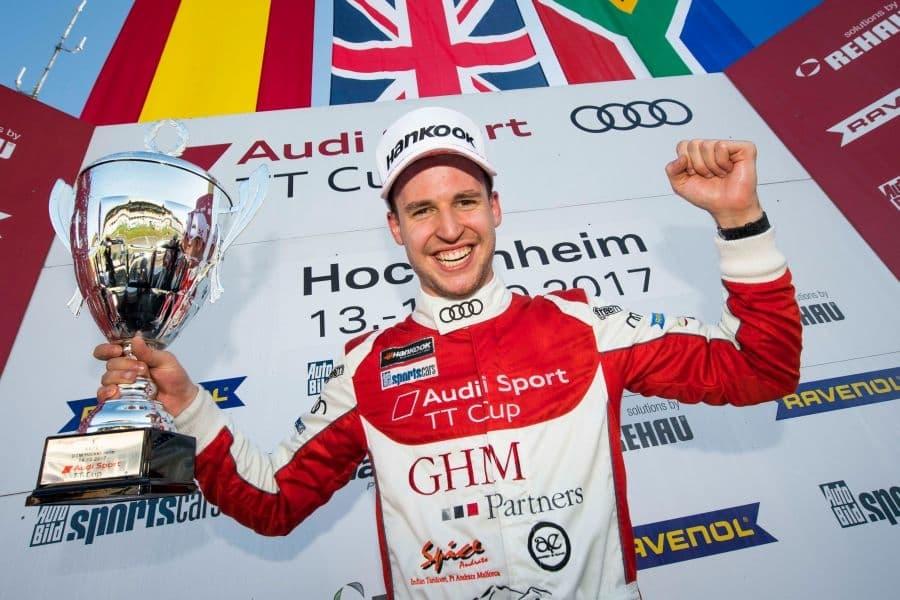 Philip Ellis 2017 Audi TT Cup champion