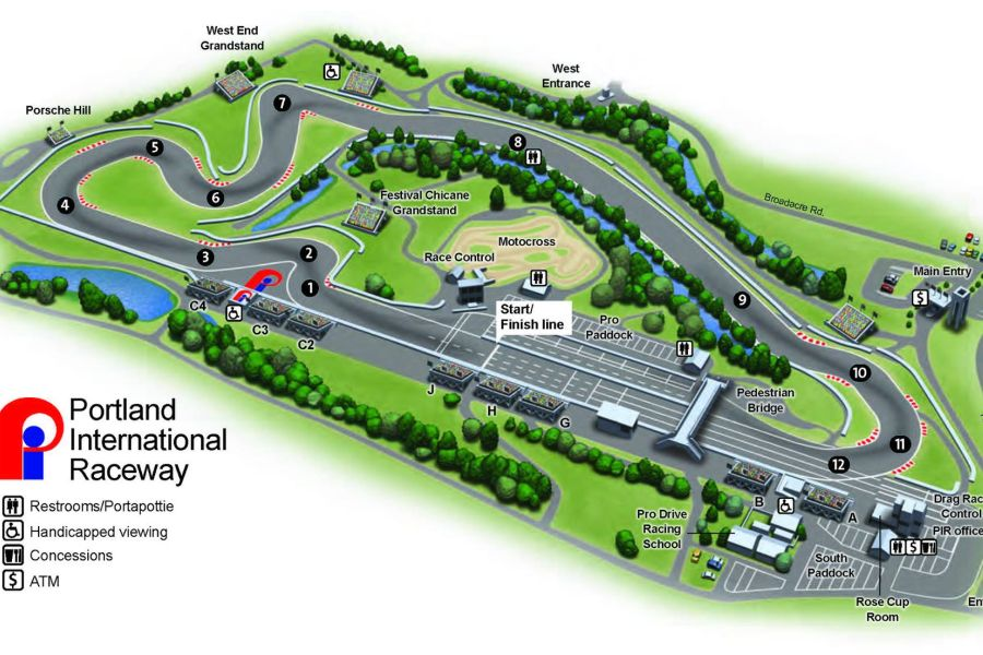 Current layout of Portland International Raceway