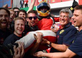 Ferrari Challenge Europe, Imola. Coppa Shell race 2 winner Fabienne Wohlwend