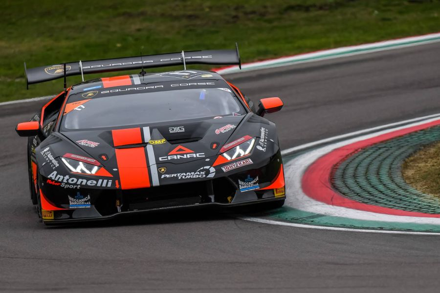 Loris Spinelli and Mikael Grenier are the European Super Trofeo champions in the #17 Huracan