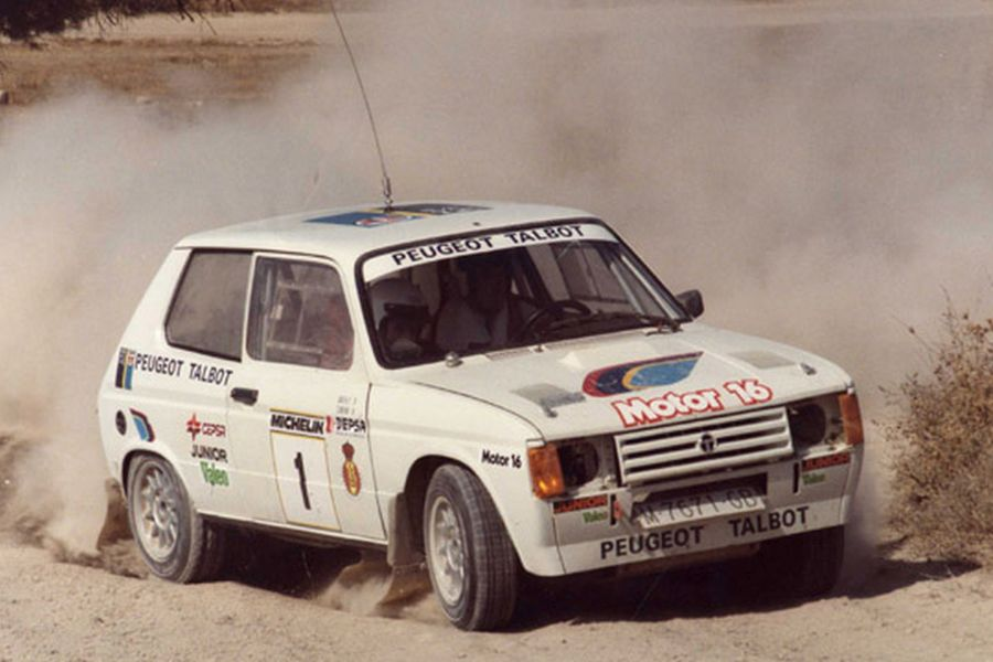 Antonio Zanini in a Talbot Samba Rallye