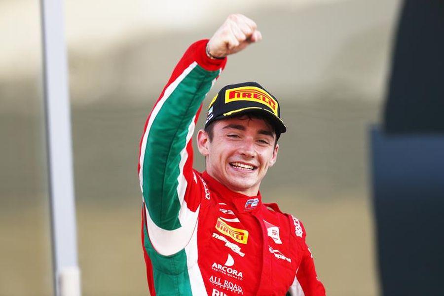 Charles Leclerc wins at Abu Dhabi