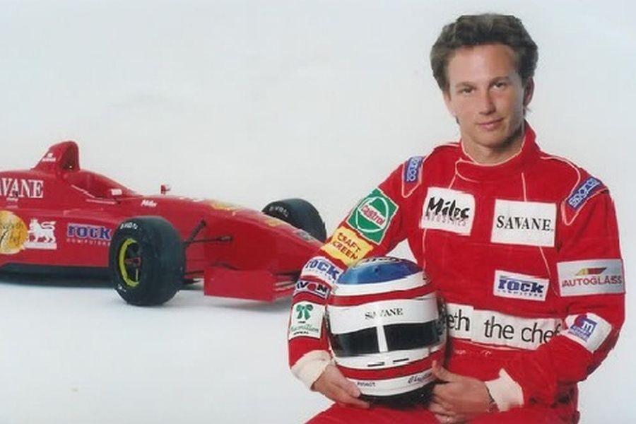 Christian Horner as a racing driver in 1997