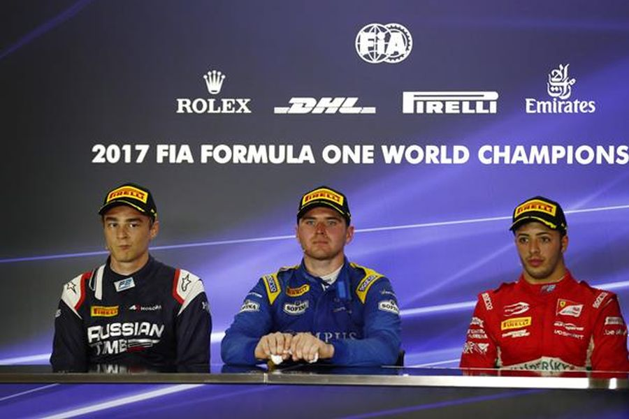 Markelov, Rowland and Fuoco shared the podium of the Formula 2 Feature race at Yas Marina Circuit
