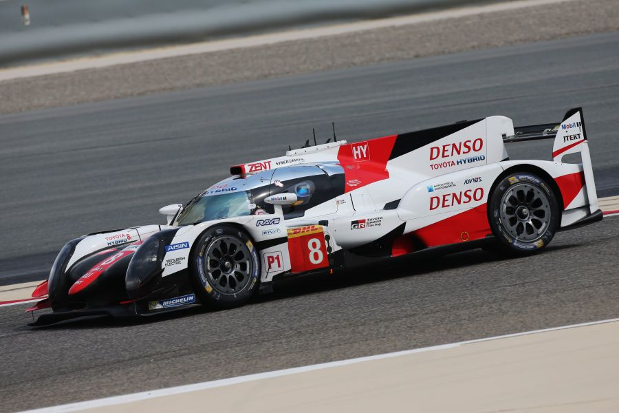 Alonso was driving the #8 Toyota TS050 Hybrid during the FIA WEC rookie test