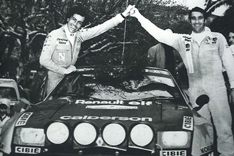 Guy Frequelin (right) early in a career, Alpine A310