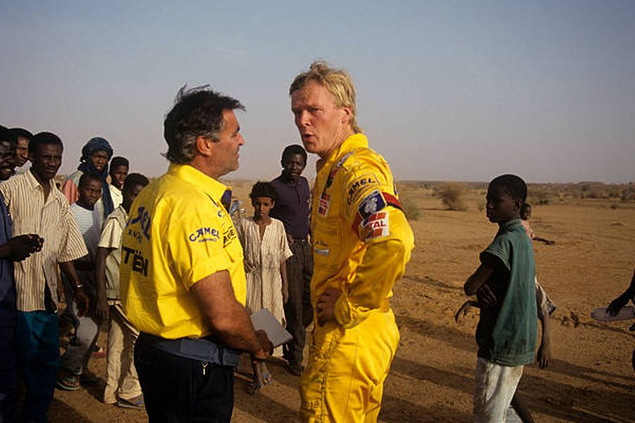Guy Frequelin and Ari Vatanen at 1991 Dakar Rally