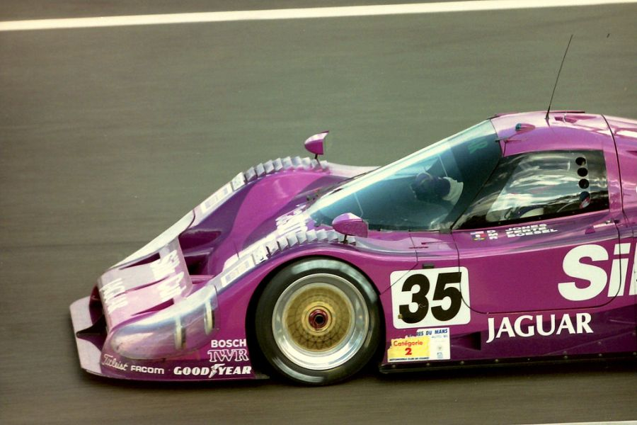 Michel Ferte reached Le Mans podium in the #35 Jaguar, 1991