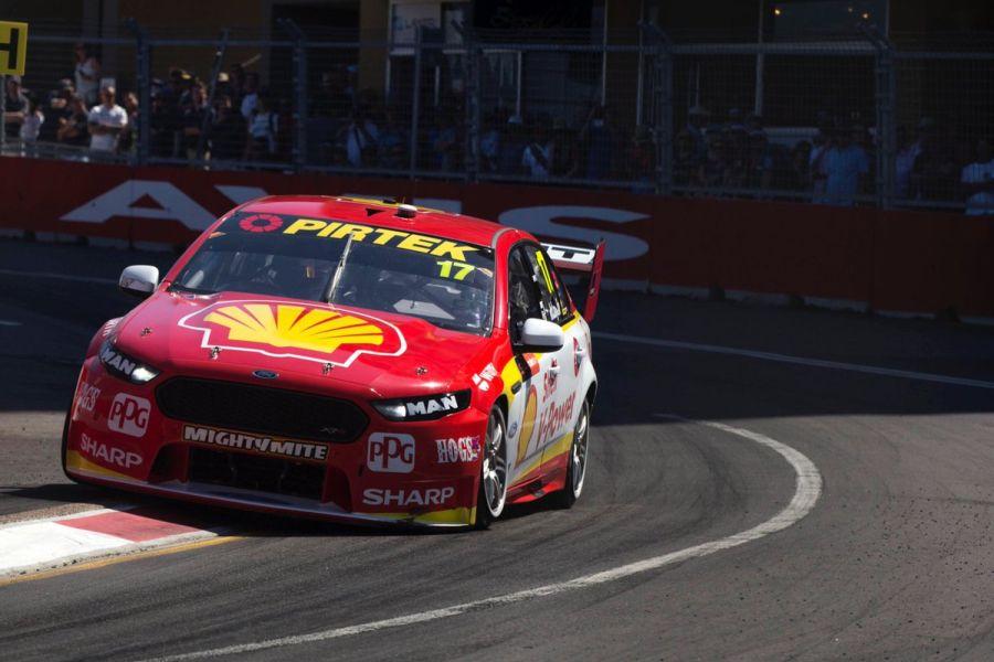 Scott McLaughlin wins race 1 at Newcastle street circuit