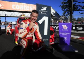 Scott McLaughlin wins race 1 at Newcastle street circuit