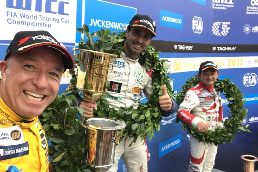 WTCC Macau race 1 podium