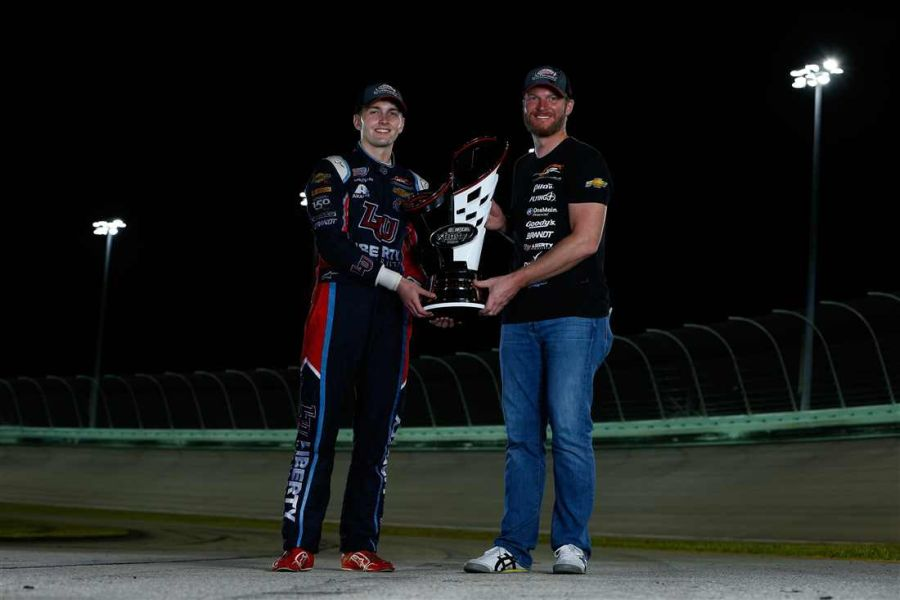 William Byron and team owner Dale Earnhardt Jr.