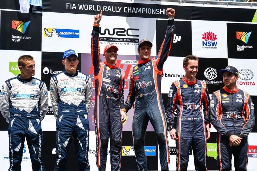 2017 Rally Australia podium