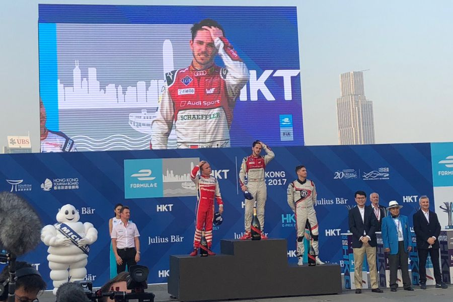 Hong Kong ePrix race 2 podium
