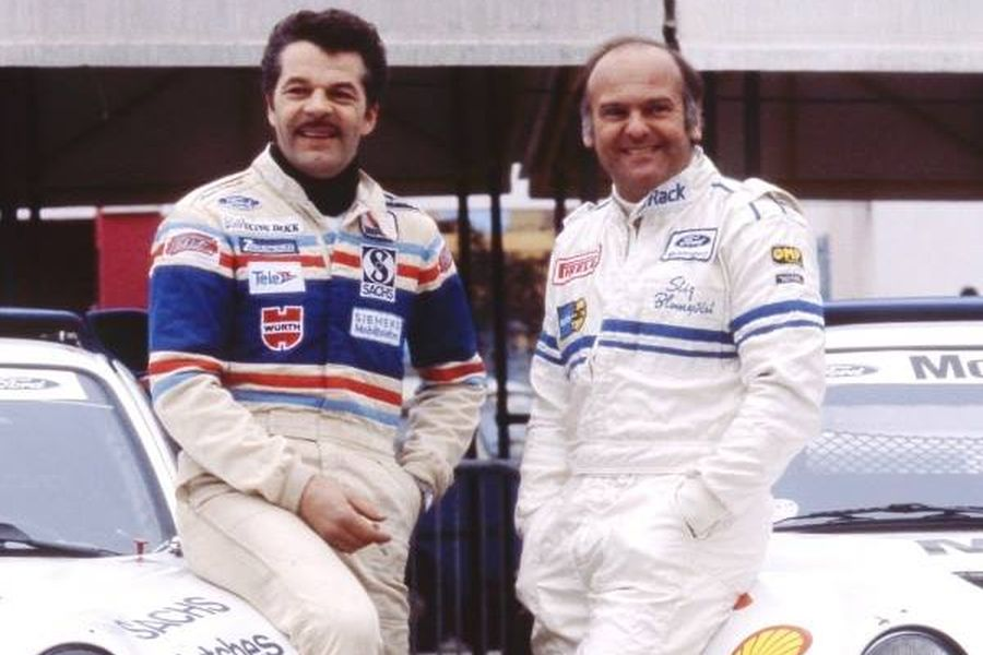 Martin Schanche and Stig Blomqvist at 1986 Memorial Bettega
