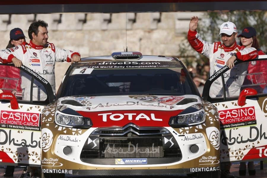 Seb Loeb and Daniel Elena at 2015 Rallye Monte-Carlo