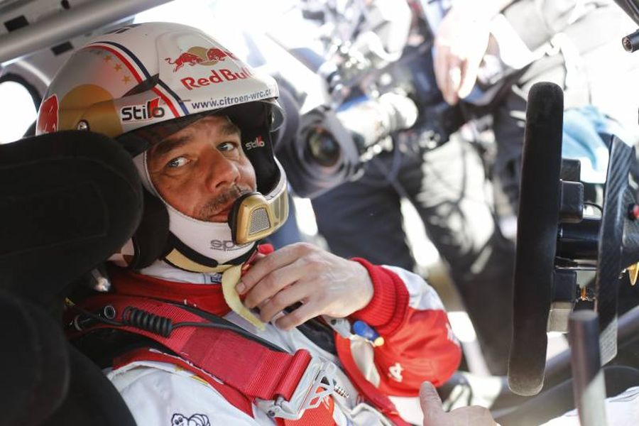 Seb Loeb in a Citroen at 2015 Rallye Monte-Carlo