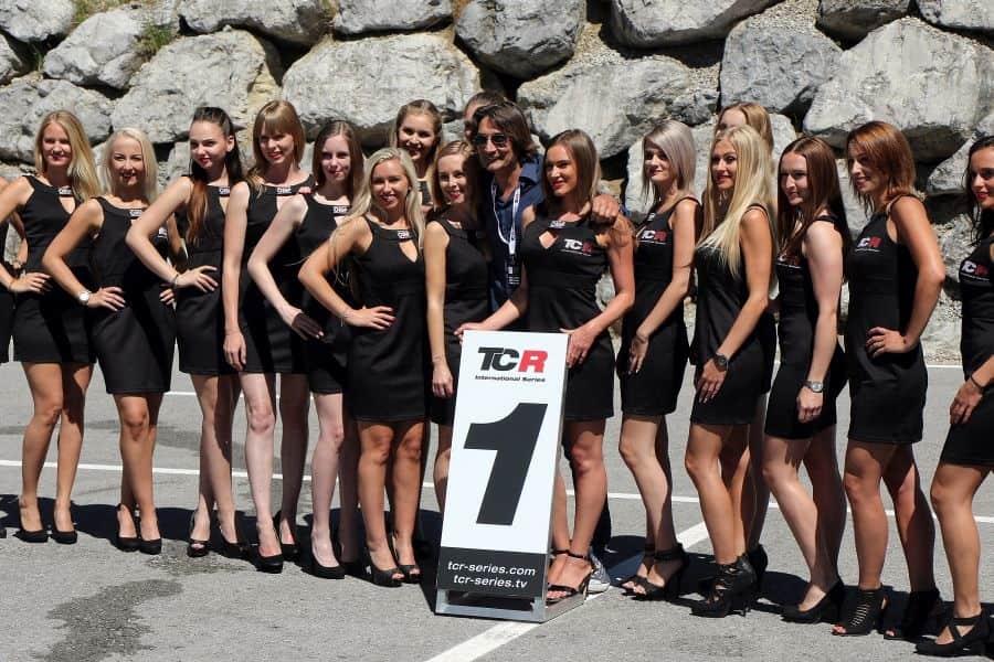 TCR International Series grid girls