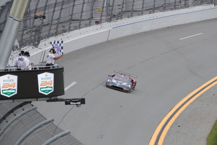 The #67 Ford GT wins GTLM class at 2018 Daytona 24 Hours