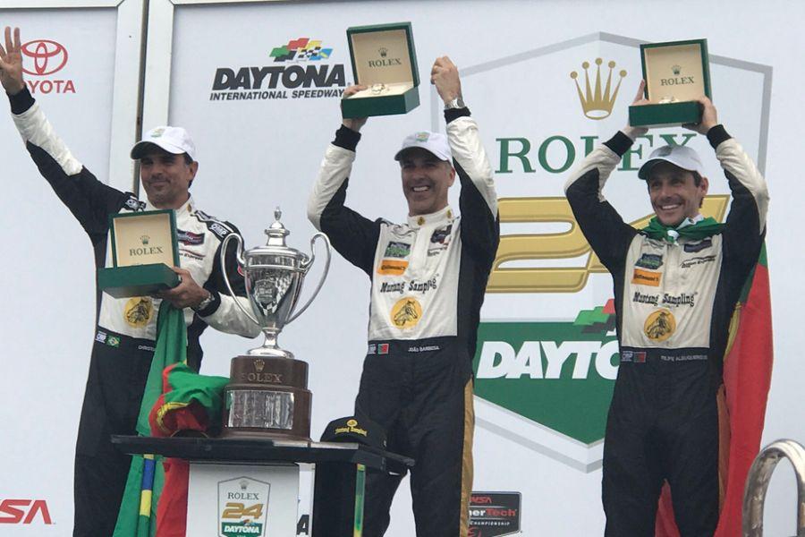 Christian Fittipaldi, Joao Barbosa, Filipe Albuquerque, 2018 Daytona 24h winners