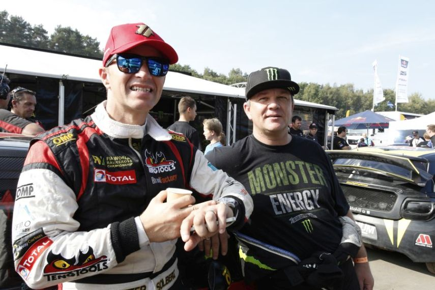 Petter and Henning Solberg were rivals in the 2014 World RX Championship