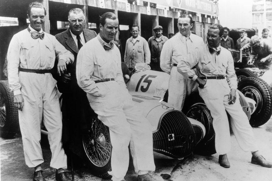 Manfred von Brauchitsch, Alfred Neubauer, Richard Seaman, Hermann Lang and Rudolf Caracciola