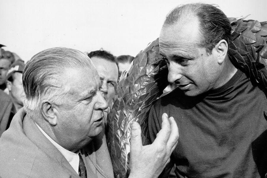 Alfred Neubauer and Juan Manuel Fangio