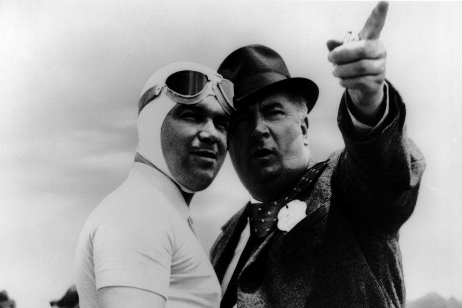 Alfred Neubauer (right) and Rudolf Caracciola Alfred Neubauer and Rudolf Caracciola