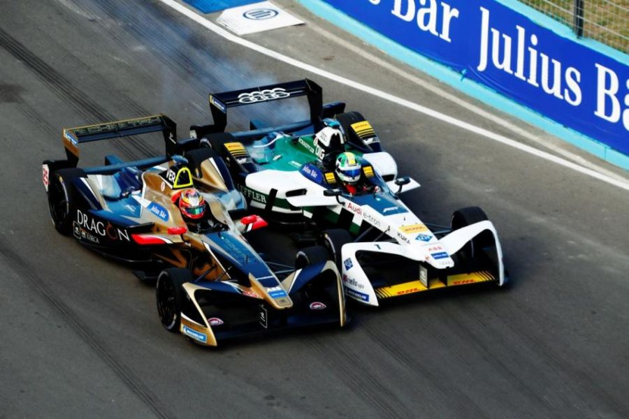 A duel for the victory - Jean-Eric Vergne and Lucas di Grassi