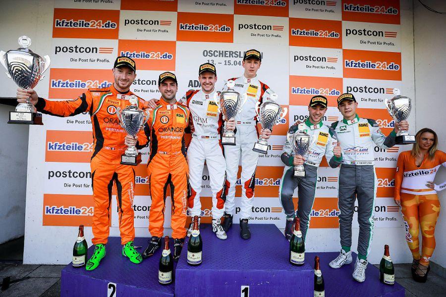 ADAC GT Masters, Oschersleben race 1 podium