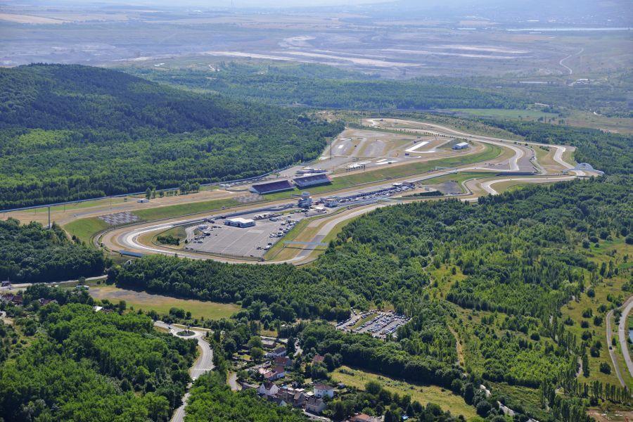 Aerial view of Autodrom Most