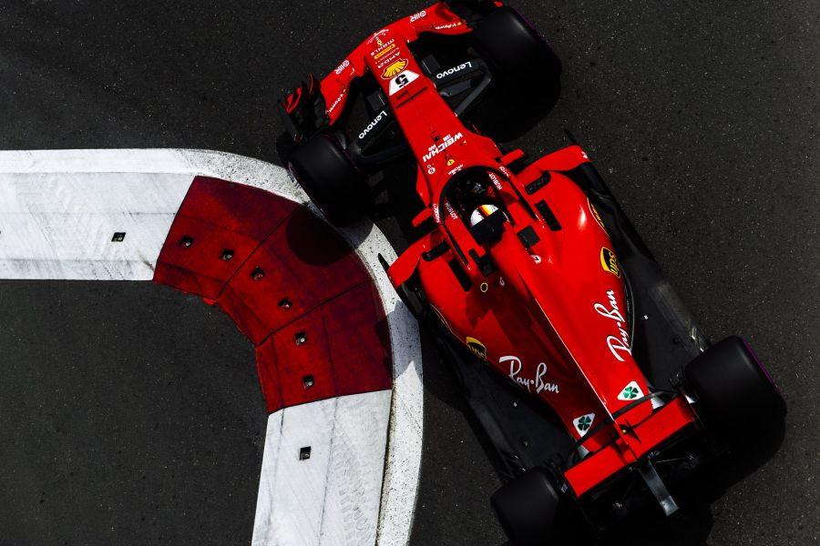 Sebastian Vettel was the fastest qualifier at Baku City Circuit