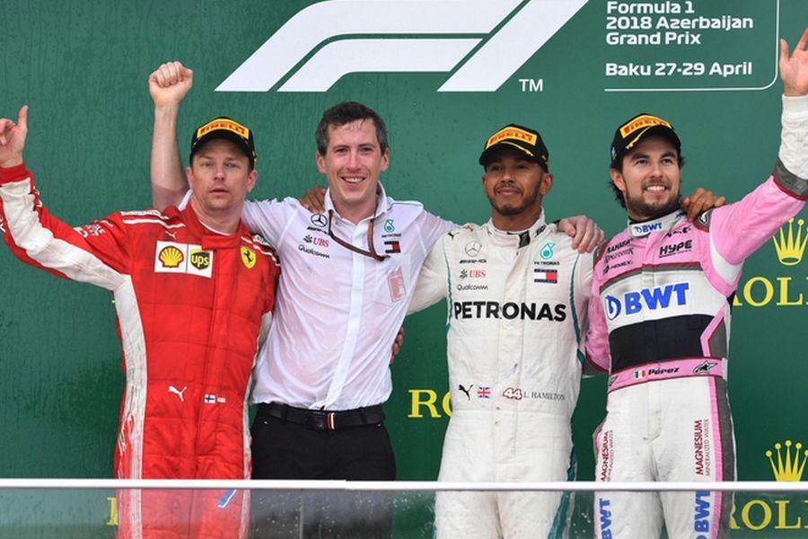 Azerbaijan Grand Prix podium
