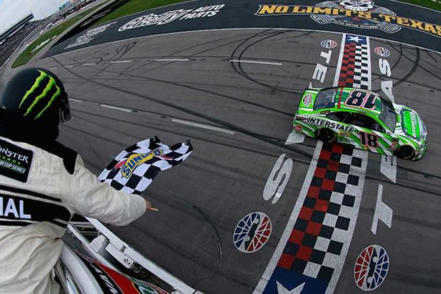 It's the third win for Kyle Busch at Texas Motor Speedway