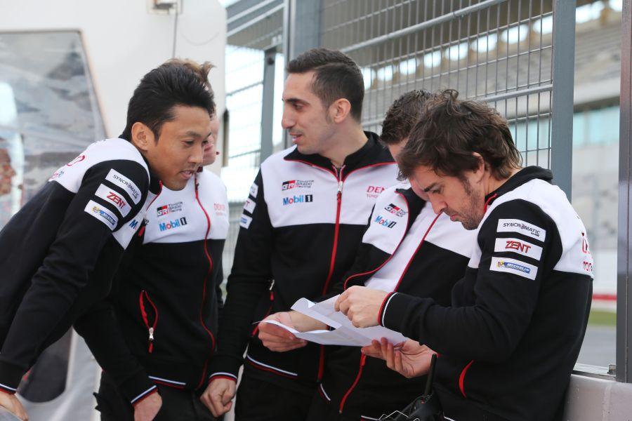 Kazuki Nakajima, Sebastien Buemi and Fernando Alonso will share the #8 Toyota TS050 Hybrid