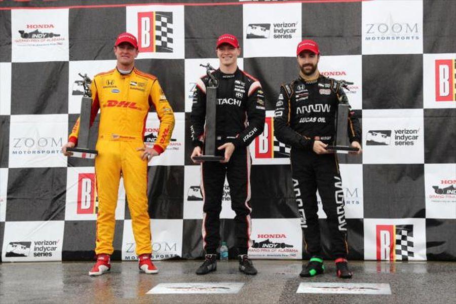 2018 Grand Prix of Alabama podium