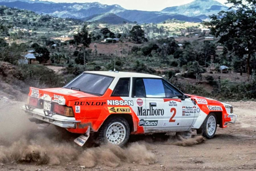 Shekhar Mehta's Nissan 240 RS Group B car